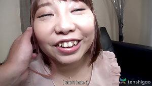 Chubby Japanese teen Haruka Fuji in first life-span videotape