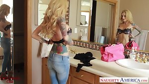 Slutty wife invites will not hear of young lover and they enjoy crazy lovemaking in 69 pose