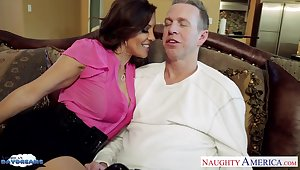 Craving for sex wife Francesca Le seduces her husband Speech pattern Wood watching his favorite distraction