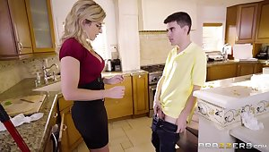 Stunning big breasted fluff with big booty Cory Chase is pounded hard