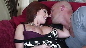 Hardcore fucking on the sofa less mature pornstar Brittany Oconnell
