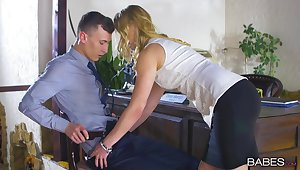 Violette Pink goes in every respect on a big dick and sucks it dry afterward